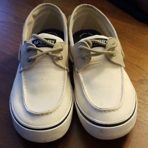 Sperry Topsiders canvas boat shoes excellent cond